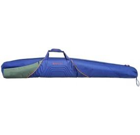 Fourreau double pour fusil 144 cm, bleu, gris & orange