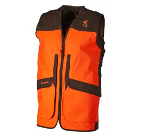 GILET UPLAND HUNTER VISIBILITY ORANGE VERT