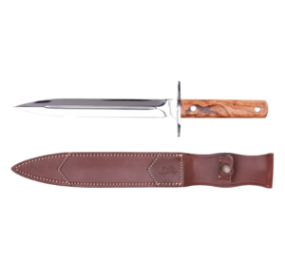 COUTEAU DAGGER OLIVE WOOD FIXED 23cm