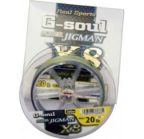 WX8 R SP G SOUL SUPER JIGMAN D661 1 - 20 LB 300M (x6)