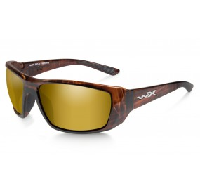 LUNETTES KOBE POL. AMBER GOLD MIRROR/ GLOSS HICKORY BROWN