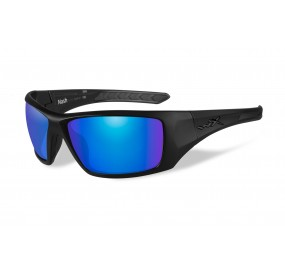 LUNETTES NASH POL. BLUE MIRROR-GREEN / MATTE BLACK
