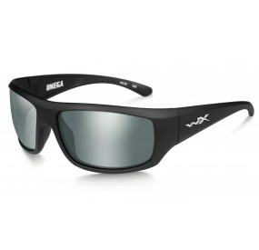 LUNETTES OMEGA POL. PLATINUM FLASH-SMOKE GREY / MATTE BLACK