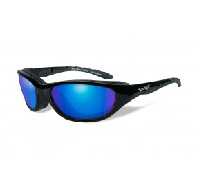 LUNETTES AIRRAGE POL. BLUE MIRROR-GREEN / GLOSS BLACK