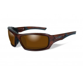 LUNETTES ECHO POL. AMBER MATTE LAYERED TORTOISE FRAME