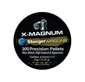 BOITE 300 PLOMB A AIR X-MAGNUM 4.5MM - 0,75G POINTUE-CARTON DE 30 BOITES